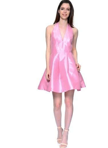 Glamorous Kısa Abiye Elbise Pembe
